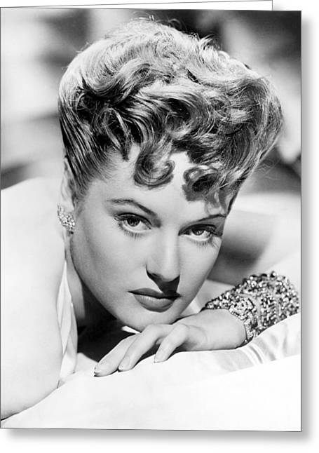 Alexis Smith Greeting Card by Silver Screen