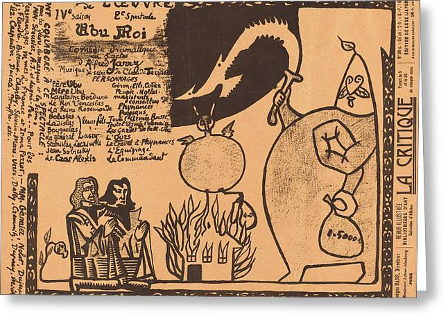 Alfred Jarry French, 1873 - 1907, Ubu Roi Greeting Card by Quint Lox