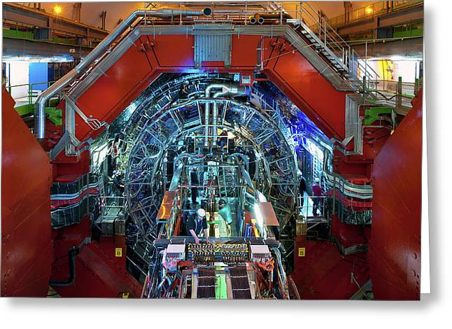 Alice Detector At Cern Greeting Card by Cern