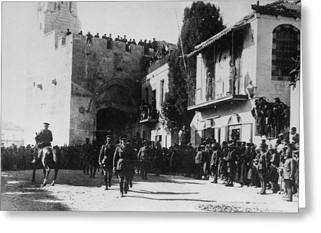 Allenby Entering Jerusalem Greeting Card