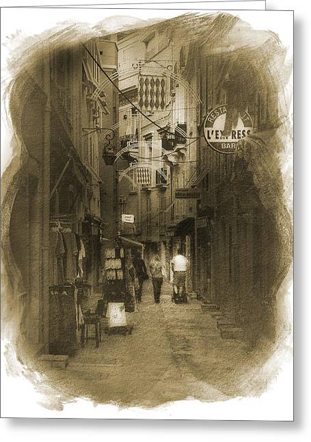 Alley Greeting Card by Cecil Fuselier