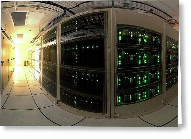 Alma Correlator Supercomputer Greeting Card by European Southern Observatory
