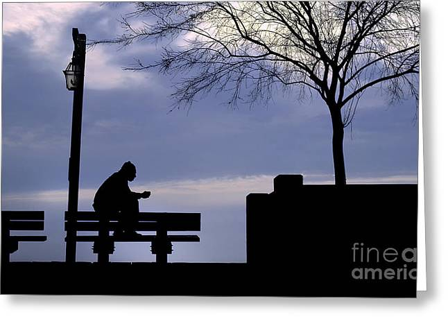 Alone Time Greeting Card by Mike Nellums