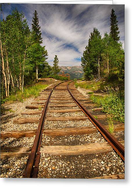 Along Boreas Pass Greeting Card by Christopher L Nelson