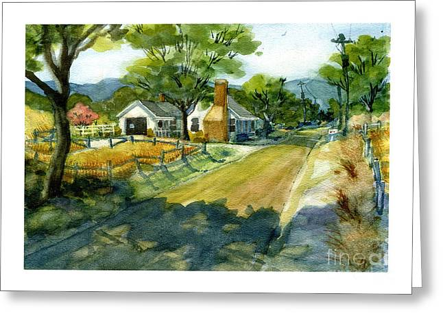 Along Stoney Creek Road Greeting Card