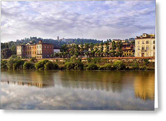 Along The Arno Greeting Card