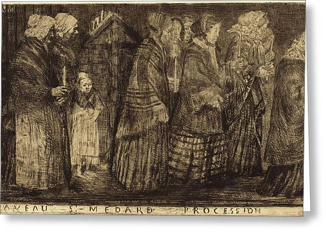 Alphonse Legros French, 1837 - 1911 Greeting Card