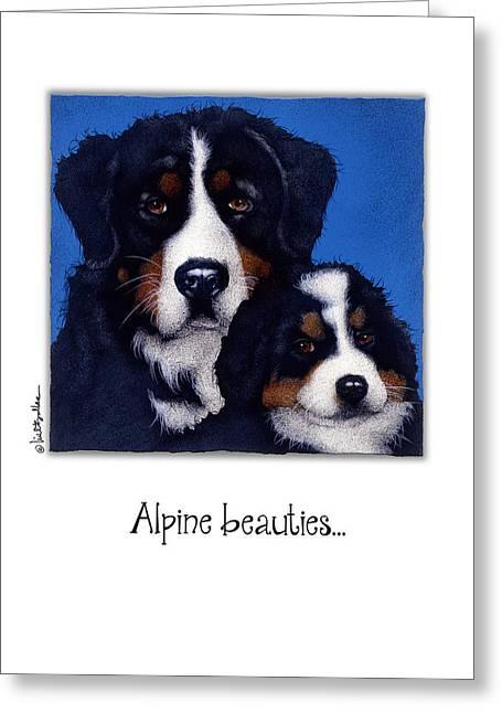 Alpine Beauties... Greeting Card by Will Bullas