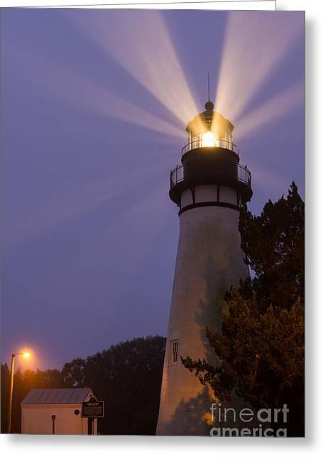 Amelia Island Light Fernandina Beach Florida Greeting Card
