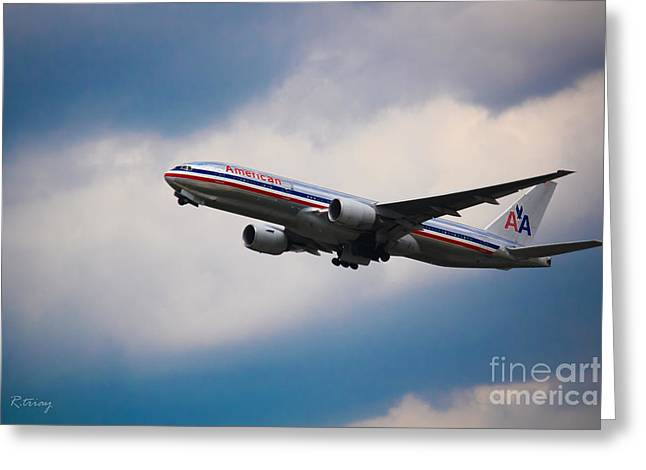 American Airlines Boeing 777 Greeting Card