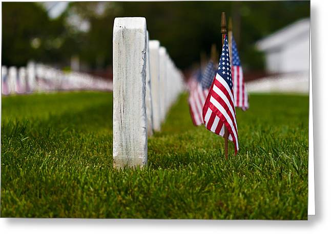 Greeting Card featuring the photograph American Flag by Jerry Gammon