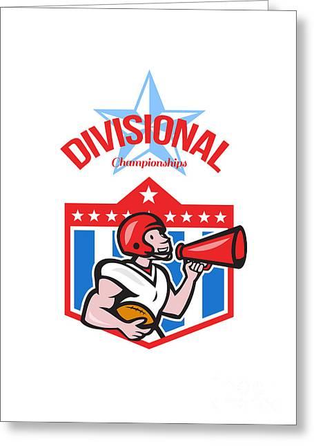 American Football Quarterback Divisional Champions Greeting Card