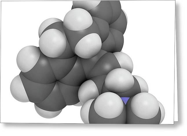 Amitryptiline Tricyclic Antidepressant Greeting Card by Molekuul
