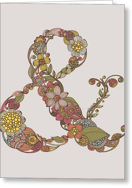 Ampersand Greeting Card by Valentina