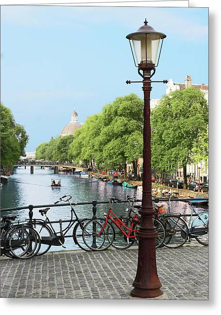 Amsterdam, Holland, Old Gas Lamp Post Greeting Card