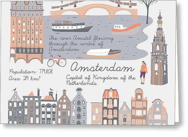 Amsterdam, Print Design Greeting Card