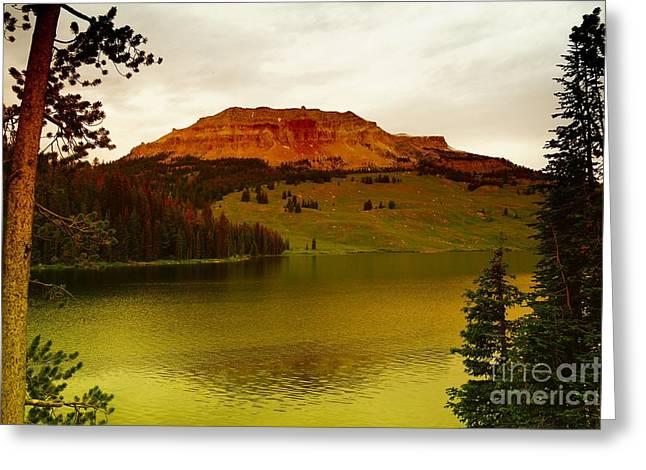 An Alpine Lake Greeting Card by Jeff Swan