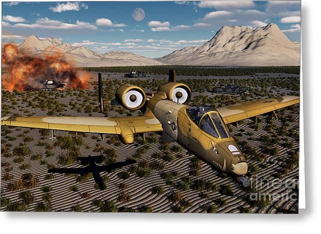 An American A-10 Thunderbolt Using Greeting Card by Mark Stevenson