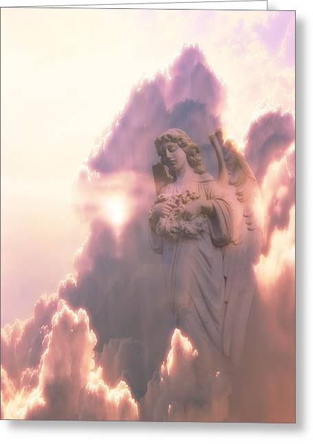 An Angel In The Clouds Greeting Card by Jim Zuckerman