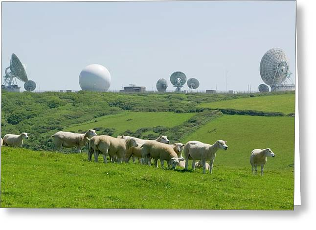 An Early Warning Radar Station Greeting Card by Ashley Cooper