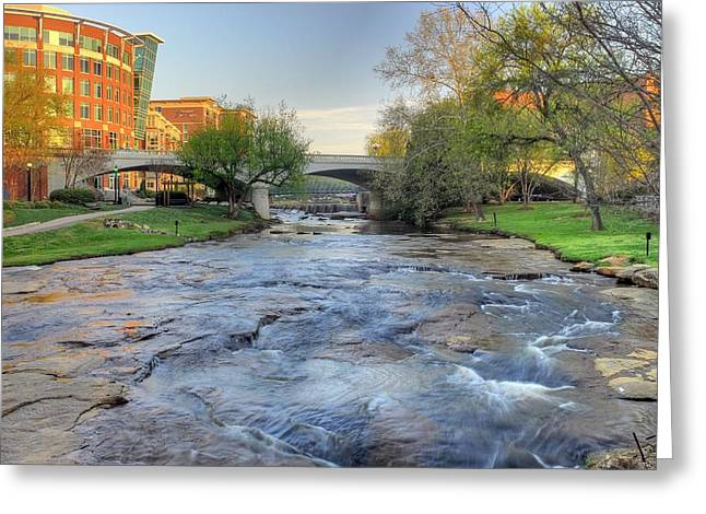 An Hdr Image Of The Reedy River In Downtown Greenville Sc Greeting Card