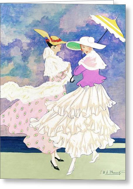An Illustration For Vogue Magazine Greeting Card by E.M.A. Steinmetz