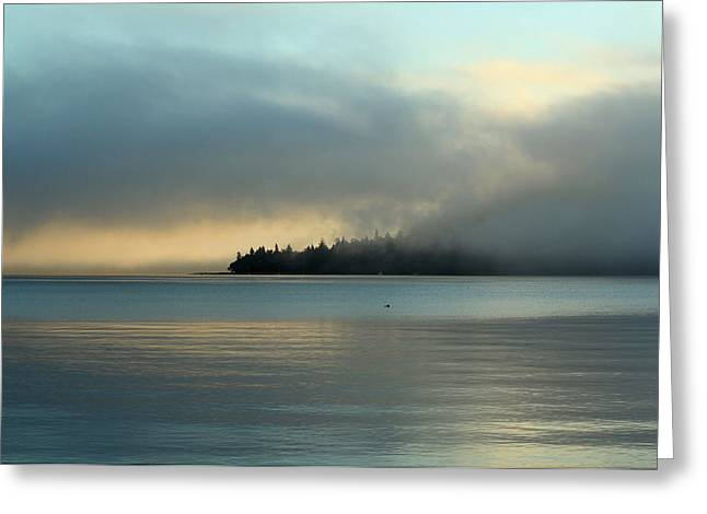 An Island In Fog Greeting Card