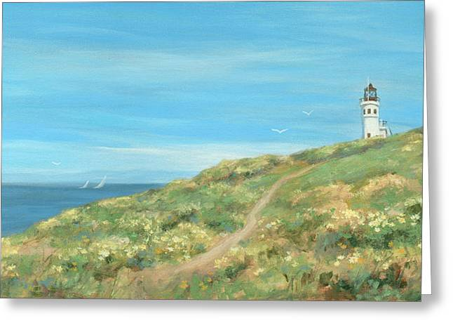 Anacapa Lighthouse Study Greeting Card by Tina Obrien