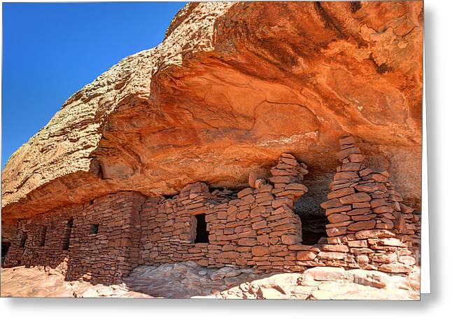 Anasazi Citadel Ruin - Cedar Mesa Greeting Card