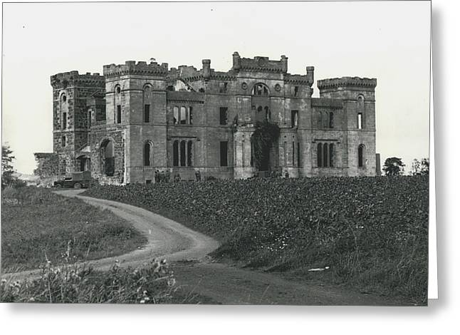 Ancient Castle Goes Up In Smoke. Blown Up By 500 Of Greeting Card by Retro Images Archive