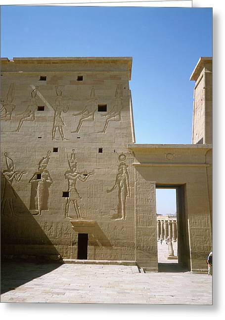 Ancient Egyptian Temple At Philae Greeting Card
