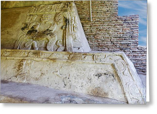 Ancient Mayan Carvings Greeting Card