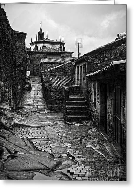 Ancient Street In Tui Bw Greeting Card by RicardMN Photography