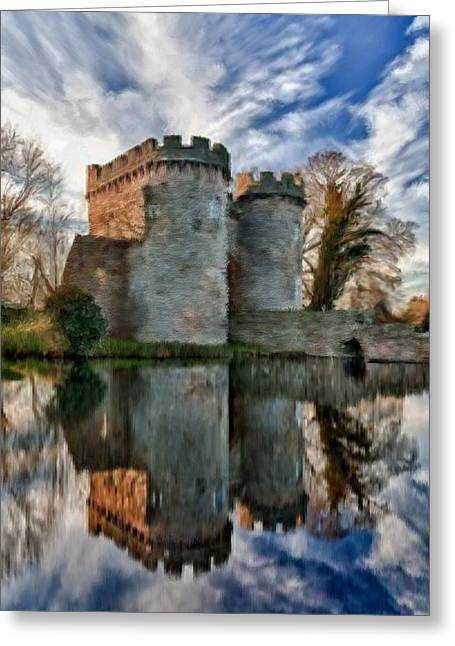 Ancient Whittington Castle In Shropshire England Greeting Card