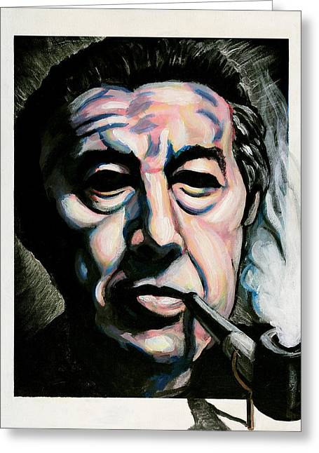 Andre Breton Greeting Card by Adam B Cook