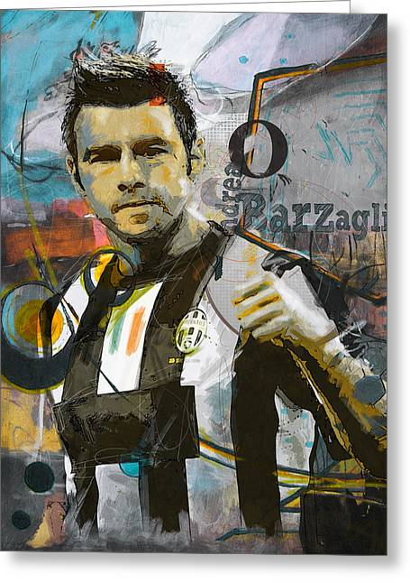Andrea Barzagli  Greeting Card by Corporate Art Task Force