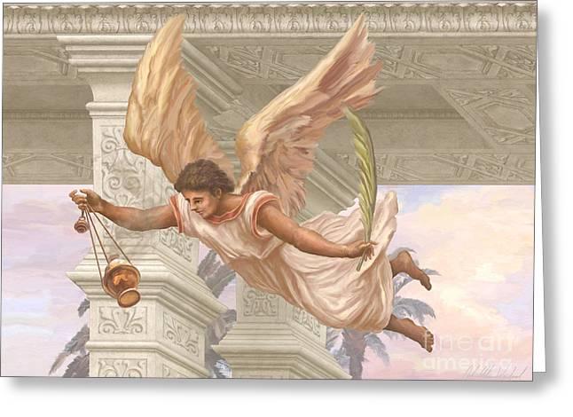 Angel Blessing 2 Greeting Card by John Alan  Warford