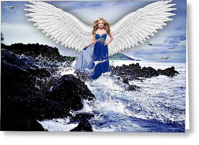 Angel Greeting Card by Marvin Blaine