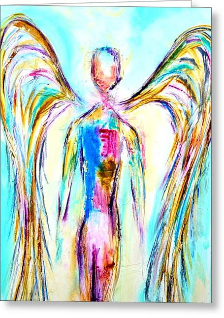 Angel Painting Greeting Card by Ivan Guaderrama