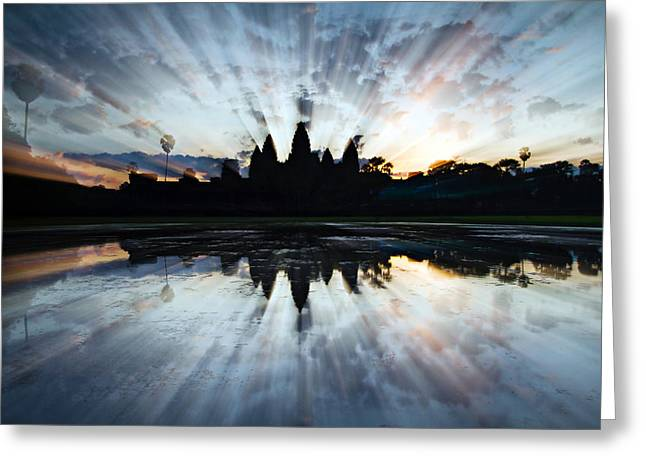 Angkor Wat Greeting Card by Brad Grove