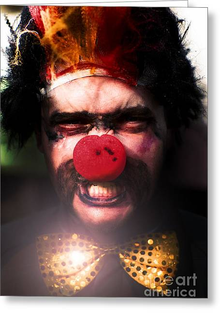 Angry The Clown Greeting Card by Jorgo Photography - Wall Art Gallery