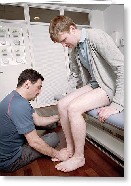Ankle Physiotherapy Greeting Card