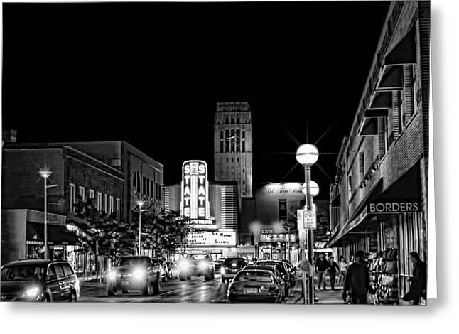 Ann Arbor Nights Greeting Card by Pat Cook