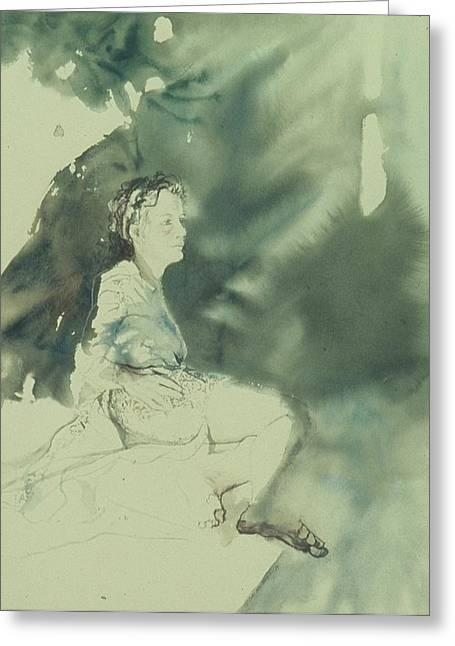 Annunciation Greeting Card by Chae Min Shim