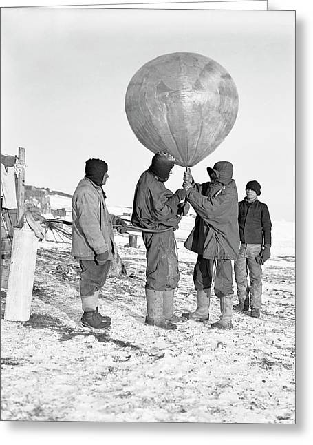 Antarctic Weather Balloon Research Greeting Card