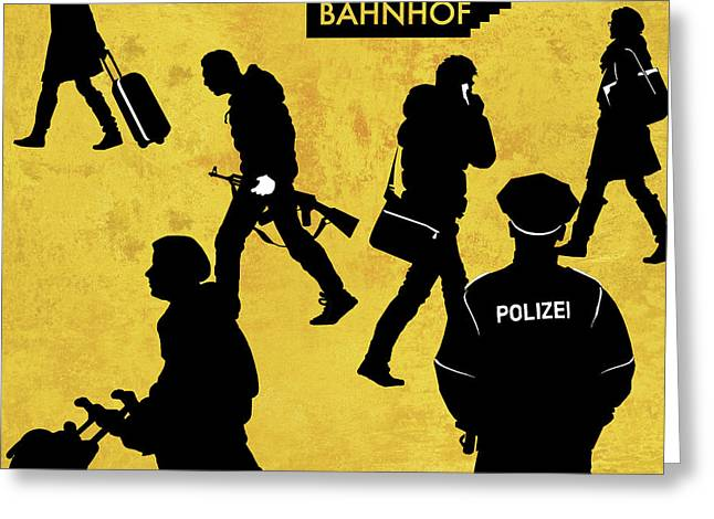 Anti-terrorism Police Greeting Card by Smetek