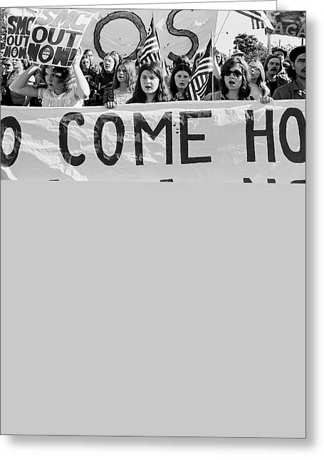 Anti Vietnam War Demonstration Greeting Card by Underwood Archives Adler