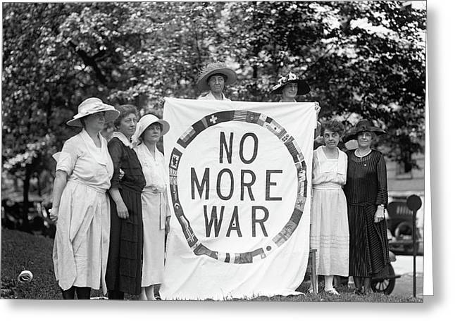 Anti-war Protest, 1922 Greeting Card by Granger