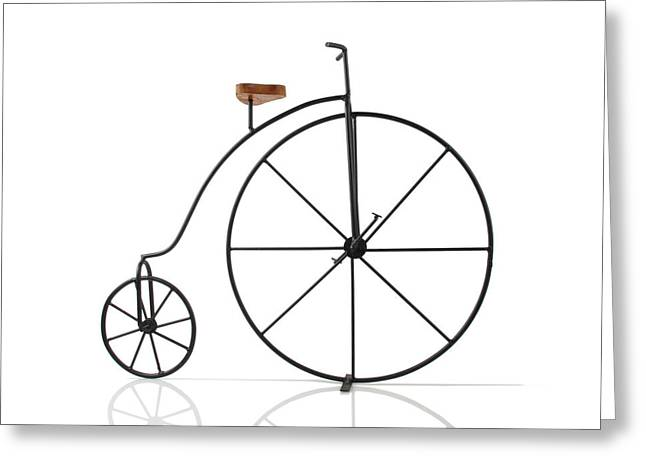 Antique Bicycle Greeting Card by Kitty Ellis
