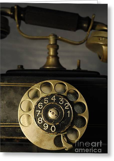Antique Dial Telephone Greeting Card